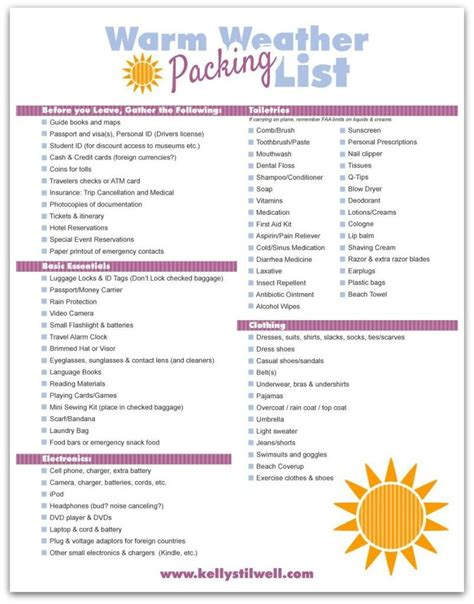 10 essential travel tips free printable packing list i