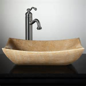 vessel sinks for bathroom libera rectangular honey onyx vessel sink vessel sinks
