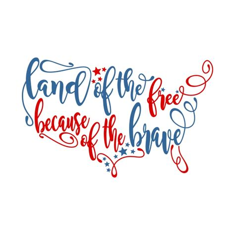 svg pattern support land of the free cuttable design
