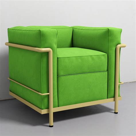 Lc2 Armchair by Cassina Lc2 Armchair 3d Model Max Obj Fbx Cgtrader