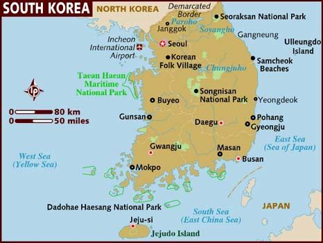 busan south korea map map of south korea