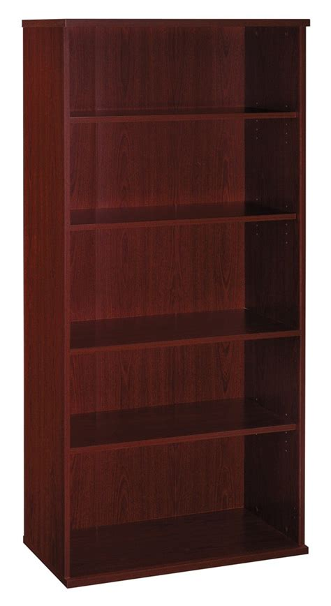 series c mahogany 36 inch 5 shelf bookcase from bush