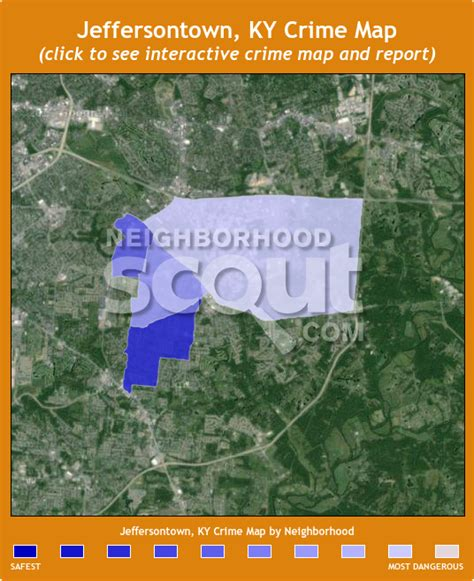 jeffersontown kentucky map jeffersontown crime rates and statistics neighborhoodscout
