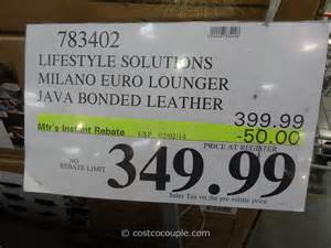 Costco Folding Bed Lifestyle Solutions Milano Euro Lounger