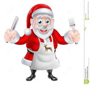 Santa cook christmas illustration claus cooking christmas dinner