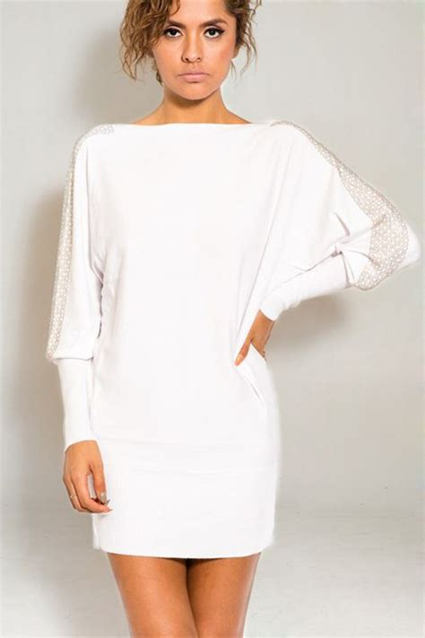 Casual White Import Limited leighton sweater in white s clothes casual dresses fashion earrings accessories
