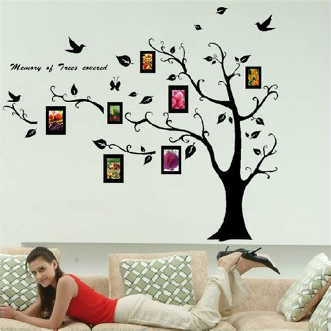 free shipping home decor large photo tree removable wall