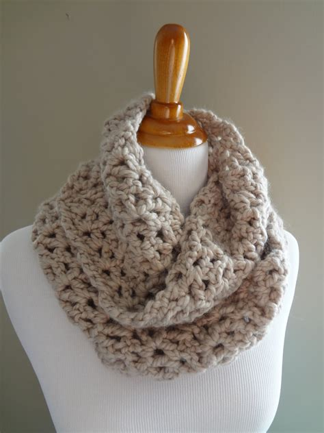 crochet pattern infinity scarf easy moved permanently