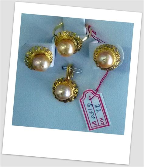 Set Emas Mutiara Air Laut 16 07 satu set perhiasan mutiara harga mutiara lombok asli