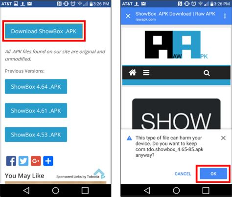 showbox apk file showbox app for android free install guide