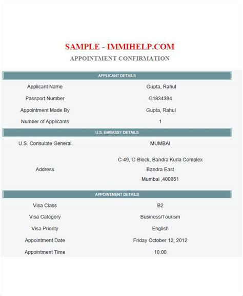 us visa appointment letter sle visa appointment letter for us visa 28 images visitor