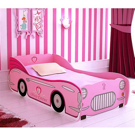 walmart car bed missy couture convertible car toddler bed pink walmart com
