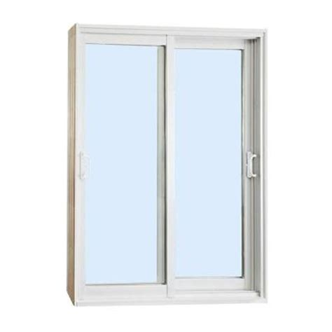 Stanley Doors Double Sliding Patio Door Clear Lowe 600001 Sliding Glass Door Home Depot