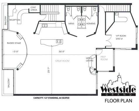 floor plan of a business wedding reception business corporate venues