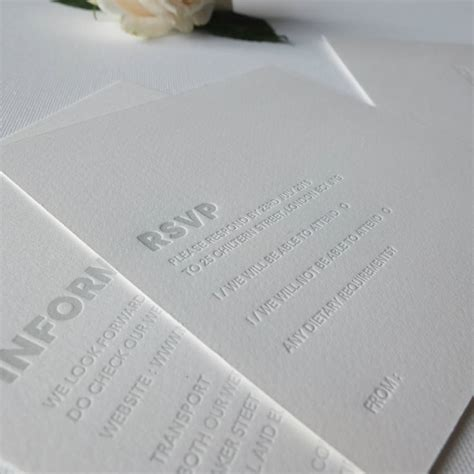 Wedding Invitations Letterpress by Embossed Letterpress Wedding Invitation By Wolf Ink