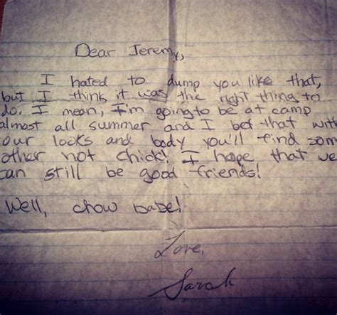 giraffe breakup letter 15 most absurd breakup letters the gossip
