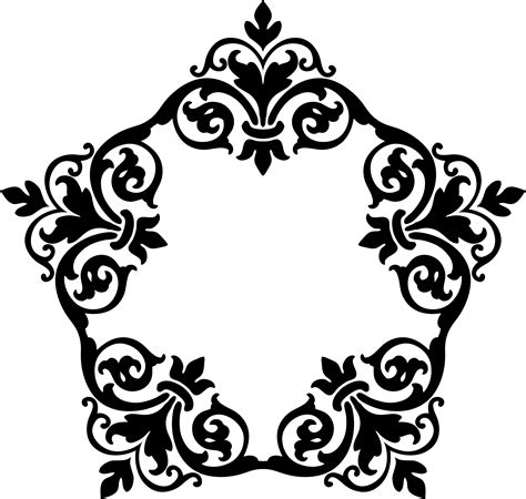 damask pattern frame clipart damask frame 12
