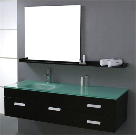 glass bathroom countertops sinks 36 modern single sink bathroom vanity mint green glass