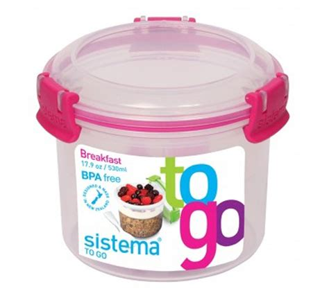 Sistema To Go Breakfast buy sistema 0 53 litre breakfast to go pot free delivery currys