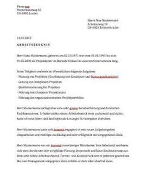 Musterbrief Kv Schweiz Arbeitszeugnis Muster Muster Und Vorlagen Kostenlos