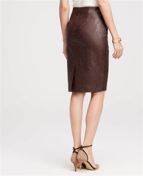 Faux Leather Pencil lyst faux leather pencil skirt in