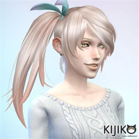 side ponytail sims 3 sims 4 hairs kijiko sims side ponytail hairstyle