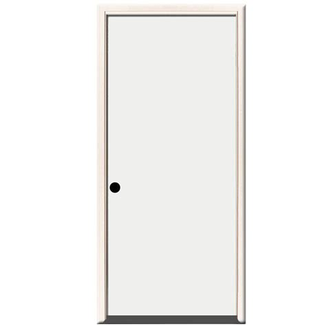 24 X 80 Exterior Door Steves Sons 24 In X 80 In Premium Flush Primed White Right Inswing Steel Prehung Front