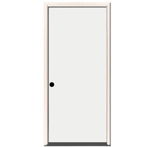 Right Door by Steves Sons 24 In X 80 In Premium Flush Primed White