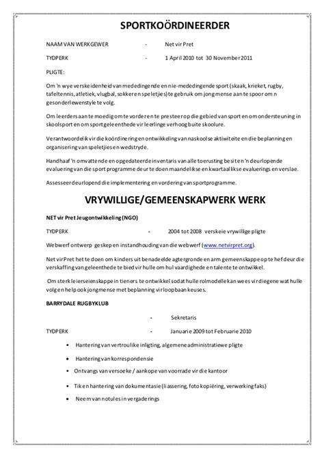 Curriculum Vitae Sles Docx Curriculum Vitae Afrikaans Docx