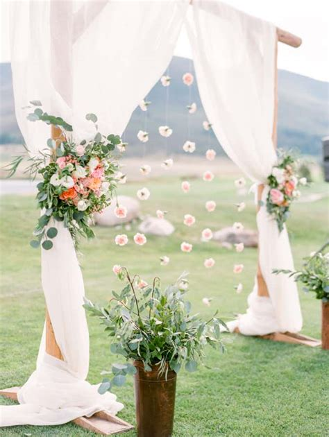 Wedding Arch Fabric by Top 12 Wedding Ceremony Arches With Flowers White Fabrics