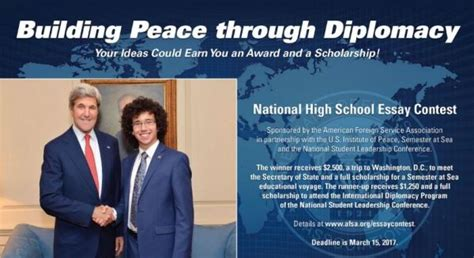 Essay Writing Contests For High School Students 2015 by Afsa National High School Essay Contest 2017 2018 Usascholarships