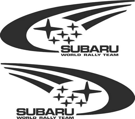Subaru Rally Logo by Subaru World Rally Team Decals And Stickers The Home Of