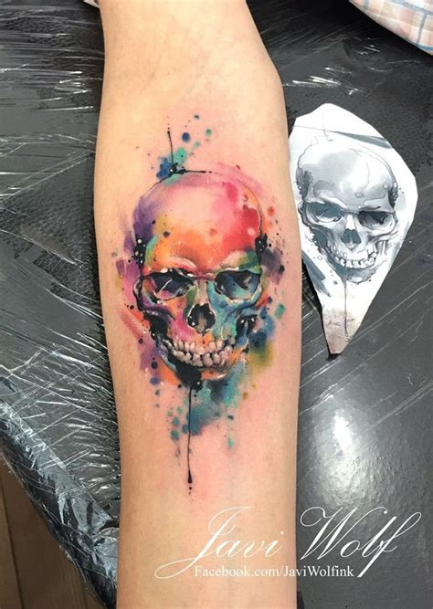 watercolor tattoo hessen lobo en acuarelas by rodrigo tas and tatting t