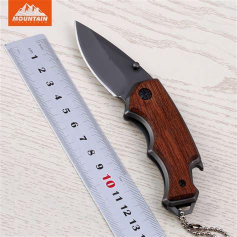 mountain knife mountain folding tactical knife 5cr13 blade titanium