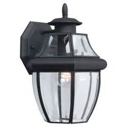 black outdoor lighting shop sea gull lighting 12 in h black outdoor wall light at
