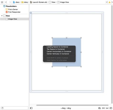 xcode layout for different screen sizes ios launch screen xib missing width height constraints