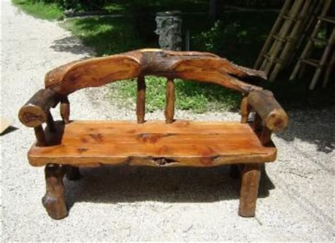 cedar log bench wood furniture pinterest 36 best images about benches on pinterest chainsaw carvings railway ties and log