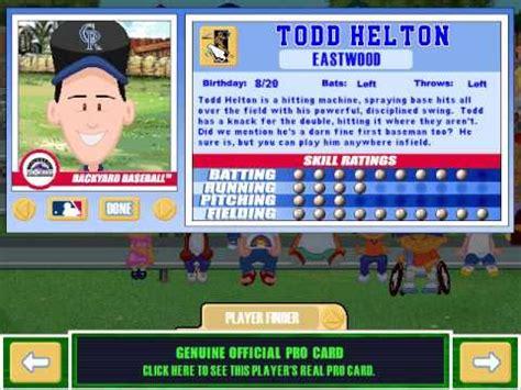 backyard baseball 2003 players let s play backyard baseball 2003 meet the pros part 1