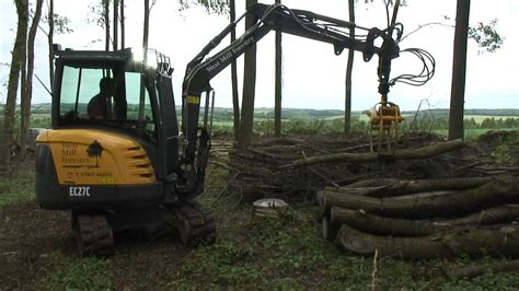 volvo ecc compact excavator west mill forestry oxford youtube