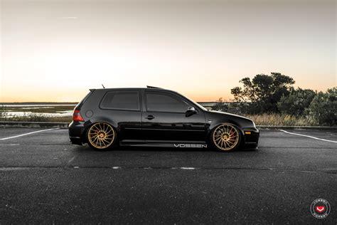Volkswagen Golf Aftermarket by Vossen Wheels Beautify Custom Black Stanced Vw Golf Gti