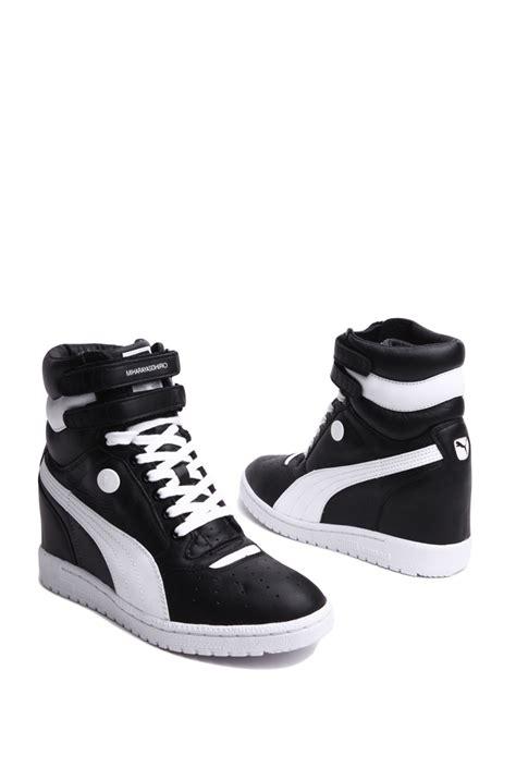 Sneakers Wedges Black White my66 sneaker wedge in black white in black black