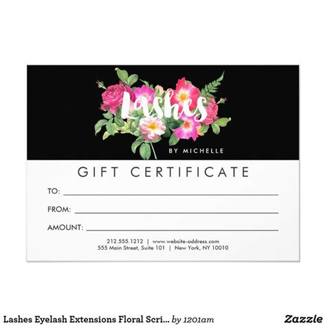 Scripts Gift Cards - 39 best images about business cards for lash extensions on pinterest