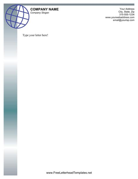 download professional letterhead template for free