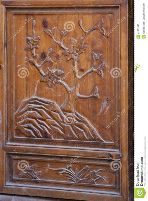 main door flower designs ornate chinese door stock photo image 41223393