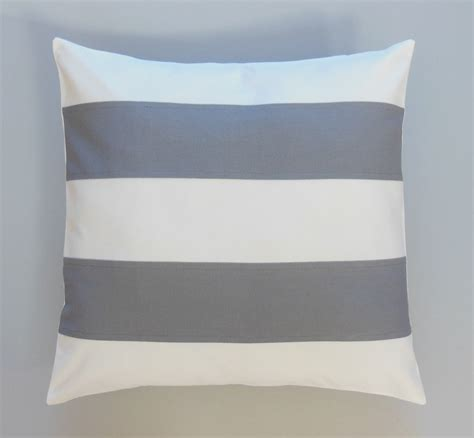 gray striped pillows decorative throw pillows by