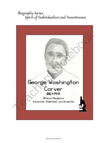 Biography Of George Washington For Elementary Students | george washington carver biography from daffodil dreams on
