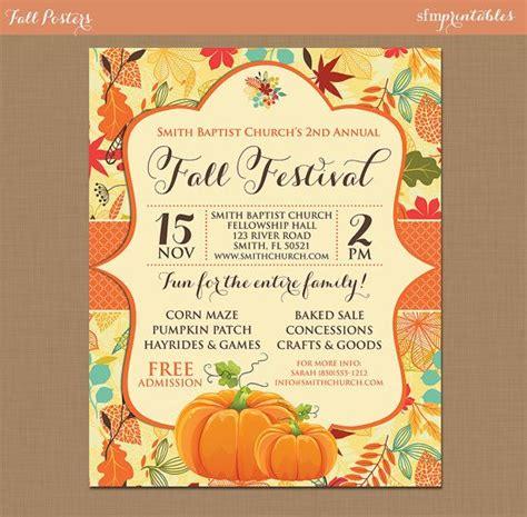Fall Festival Harvest Invitation Poster Pumpkin Patch Farm Template Church School Community Harvest Festival Flyer Free Template