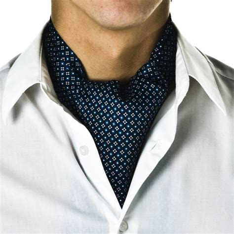 navy blue micro pattern casual cravat from ties planet uk