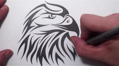 tattoo design tutorial how to draw an american eagle tribal design
