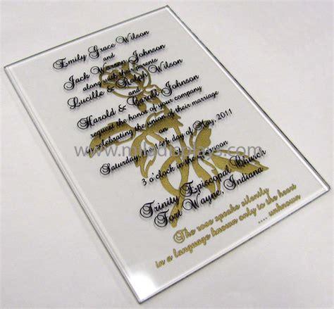 Glass Wedding Invitations
